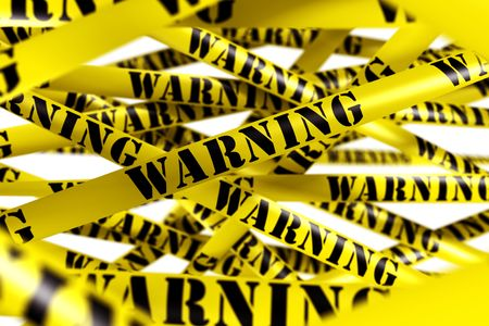 3d rendering of WARNING tape. Stock Photo - 5257308