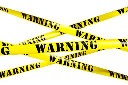 3d rendering of WARNING tape. Stock Photo - 5257306