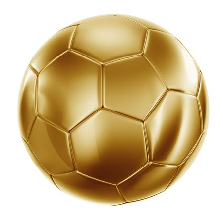 soccerball: 3d rendering of a soccerball in gold