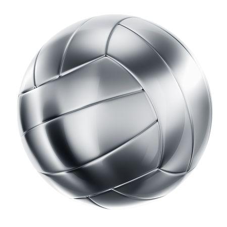 pelota de voley: 3d prestaci�n de un voleibol de plata Foto de archivo