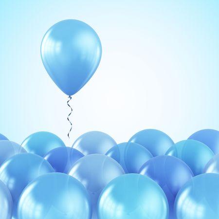 3d rendering of Luftballon Flucht