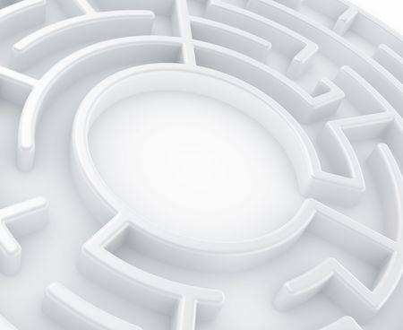 3d rendering of a circular maze photo