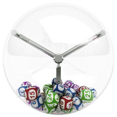 lottery: 3D-rendering van de loterij machine met ballen