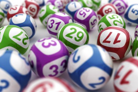 lottery win: 3d rendering of lottery balls Stock Photo
