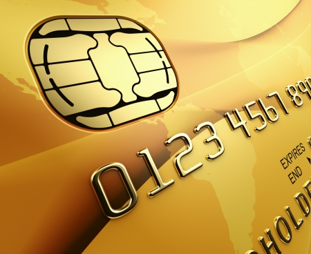 3d rendering of a gold credit card Stock Photo - 5816909