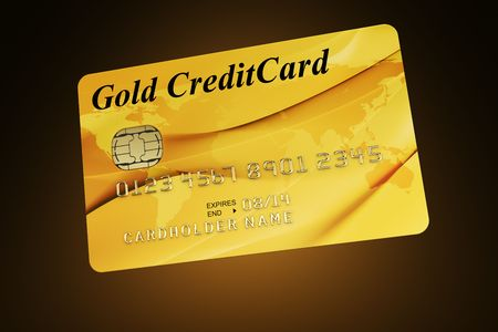 3d rendering of a gold credit card Stock Photo - 5816901