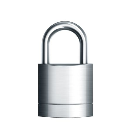 3d rendering of a closed padlock Stock Photo - 6039631