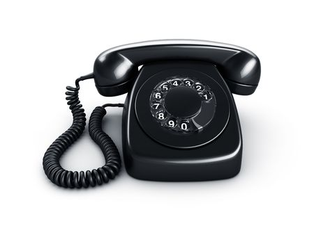 3d rendering of an old vintage rotary phone in black Stock Photo - 6039634