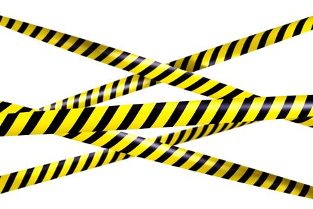 3d rendering of blank caution tape Stock Photo - 6186636