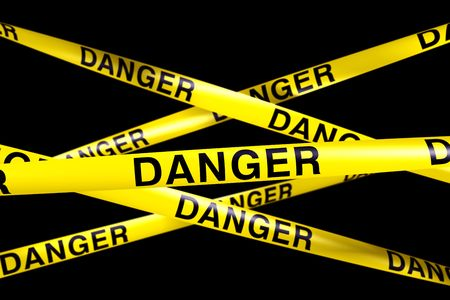 3d rendering of caution tape with DANGER written on it Stock Photo - 6186532