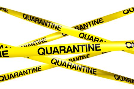 3d rendering of caution tape with QUARANTINE written on it Stock Photo - 6186651