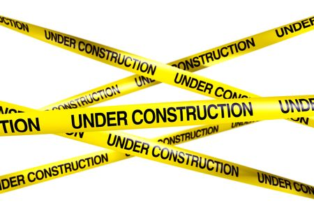 3d rendering of caution tape with UNDER CONSTRUCTION written on it Stock Photo - 6186663