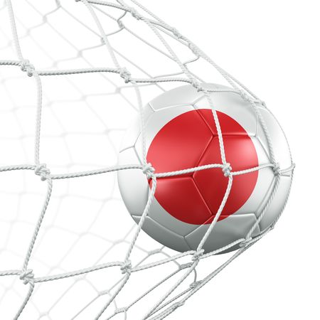 3d rendering of a Japanese soccer ball in a net Stock Photo - 6186548