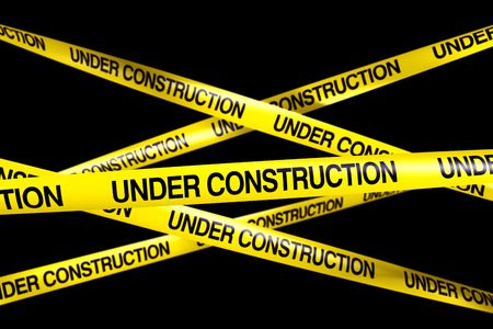 3d rendering of caution tape with UNDER CONSTRUCTION written on it Stock Photo - 6874399