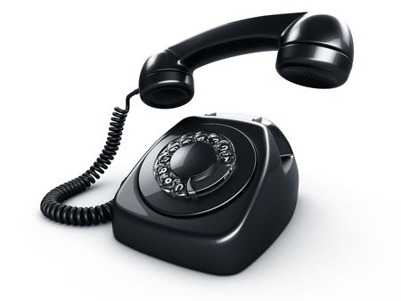 3d rendering of an old vintage rotary phone in black Stock Photo - 6874404