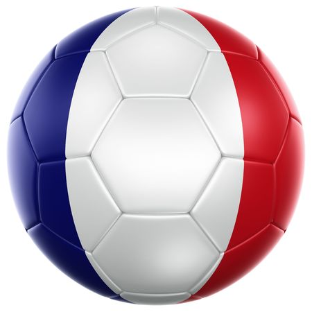 3d rendering of a French soccer ball isolated on a white background photo