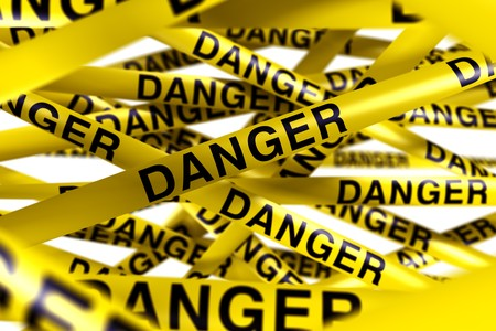 3d rendering of caution tape with DANGER written on it Stock Photo - 7250858