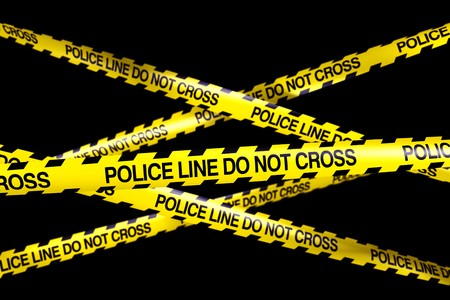 3d rendering of caution tape with POLICELINE DO NOT CROSS written on it Stock Photo - 7250781