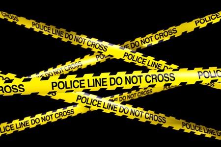 crime scene do not cross: 3d rendering of caution tape with POLICELINE DO NOT CROSS written on it