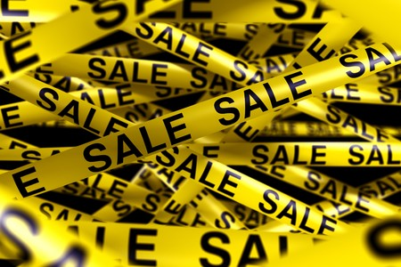 3d rendering of caution tape with SALE written on it Stock Photo - 7250862