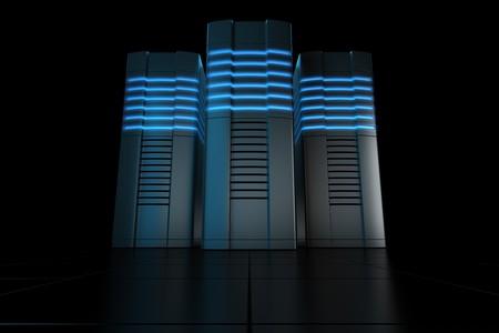 3d rendering of futuristic servers Stock Photo - 7250806