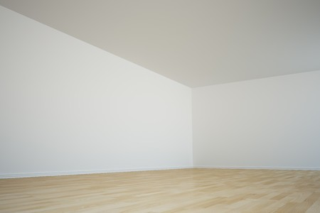 corner house: 3d rendering of a corner in an empty room