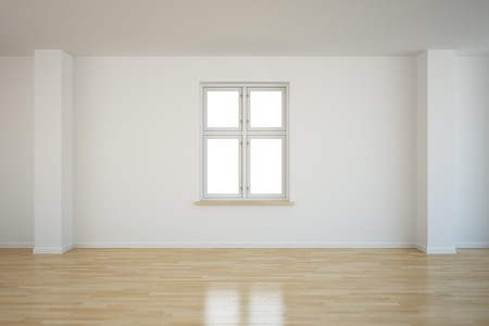 3d rendering of an empty room with a closed window Stock Photo - 7250828