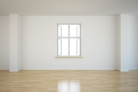 3d rendering of an empty room with an open window Stock Photo - 7250825