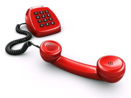 numpad: 3d rednering of an old retro phone with a modern digital numpad