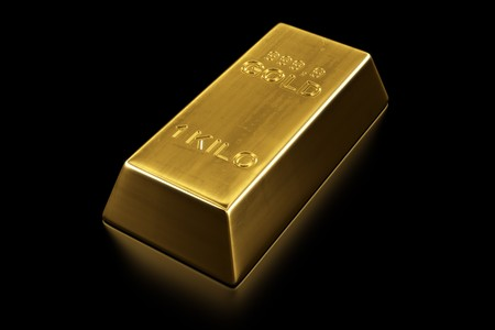 valuables: 3d rendering of a gold bar
