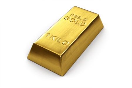 gold bar: 3d rendering of a gold bar