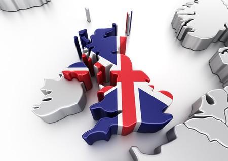 kingdoms: 3d rendering of United Kingdom