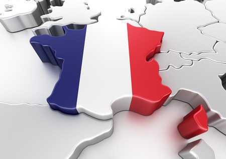 the 3d: representaci�n 3D de Francia  Foto de archivo