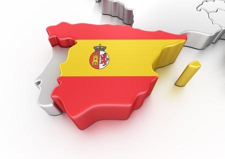 3d rendering of Spain photo