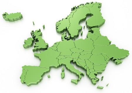 mapa de europa: representaci�n 3D de un mapa de Europa