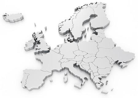 mapa europa: representaci�n 3D de un mapa de Europa
