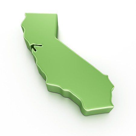 3d rendering of California Stock Photo