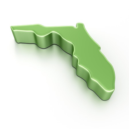 florida state: 3d rendering of Florida