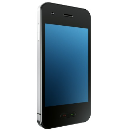 mobilephones: 3d rendering of a Mobile Phone Stock Photo