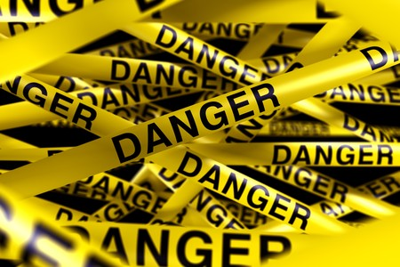3d rendering of caution tape with DANGER written on it Stock Photo - 7827078