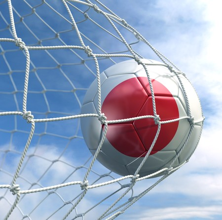 3d rendering of a Japanese soccer ball in a net Stock Photo - 7827039