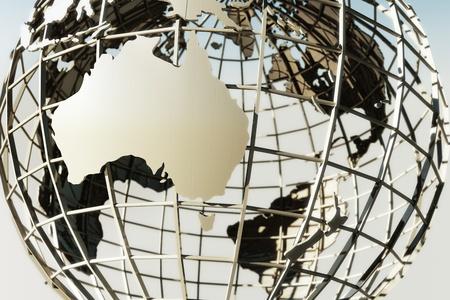 Grafika trójwymiarowa kuli ziemskiej, wykazujÄ…ce Australii Zdjęcie Seryjne - 9136632