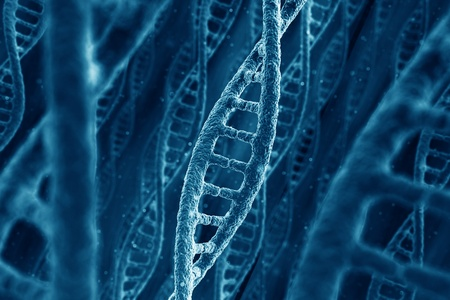 3d rendering of DNA strings