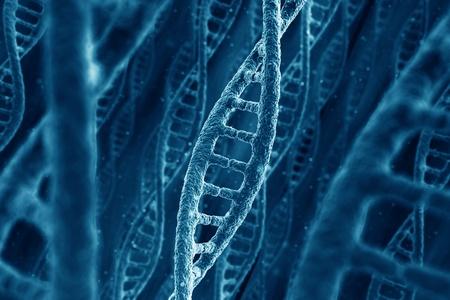 3D-rendering van DNA-strengen Stockfoto