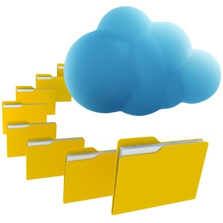 3d rendering illustrating cloud computing