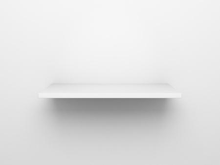 estanterias: Representaci�n 3D de un estante vac�o en una pared blanca