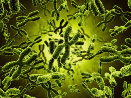 microbiology: 3d rendering of chromosomes Stock Photo