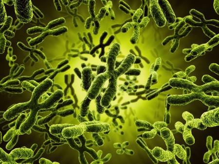 3D-rendering van chromosomen Stockfoto