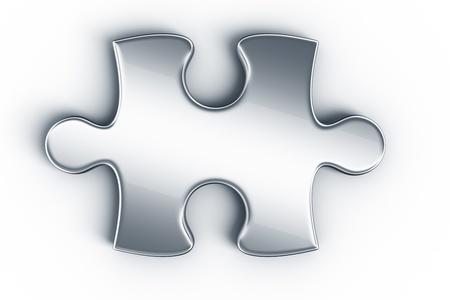piezas de rompecabezas: Se exhiben objetos del rompecabezas en un piso blanco visto desde la parte superior