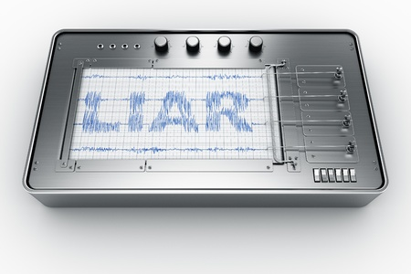 3d rendering of a lie detector Stock Photo